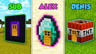 SUB vs ALEX vs DENIS - HOUSE INSIDE BLOCKS in Minecraft! (The Pals)