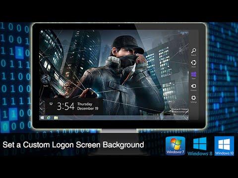 Set A Custom Logon Screen Background On Windows 8 And 10 Youtube