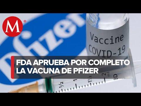 ¡Aprobación total! FDA aprueba por completo la vacuna Pfizer contra el covid-19