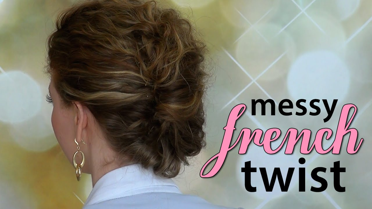 Quick easy messy french twist for curly hair youtube solutioingenieria Image collections