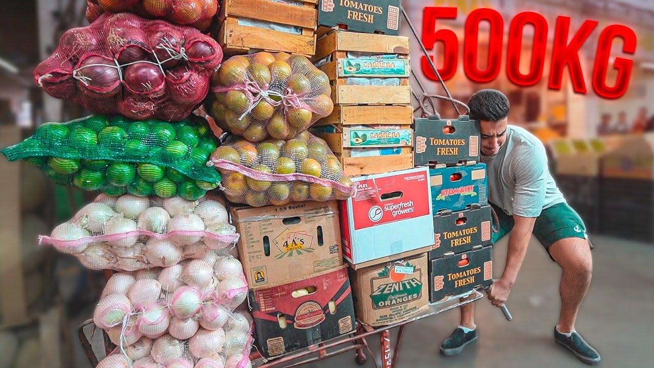 TRABAJÉ cargando +500KG en la CENTRAL DE ABASTOS en MÉXICO