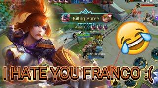 Franco Funny Gameplay In Mirror Mode   5 Franco vs 5 Fanny   Gamerkita