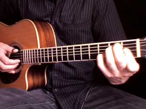 Beginning fingerstyle guitar : Learn Freight train 1 + tablature
