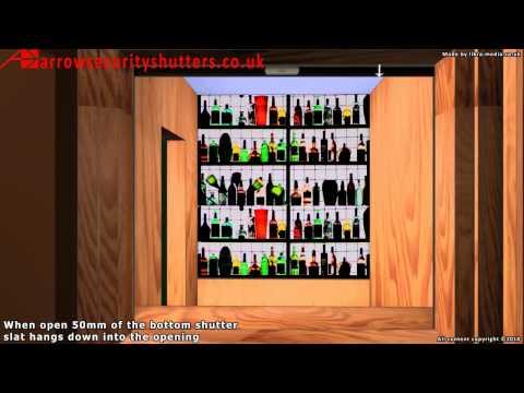 Bar Roller Shutter, metal roller shutters, plastic roller shutters