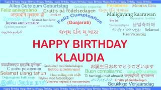 Klaudia   Languages Idiomas - Happy Birthday