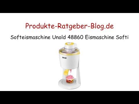 Unold 48860 Softi Softeismaschine Softeis-Maker Eismaschine Eiscreme-Maschine