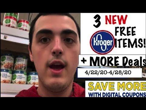 3 NEW KROGER FREEBIES + MORE DEALS!!!!– 4/22/20-4/28/20