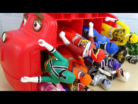 Put Power Ranger into Chuggington storage Spo Spo video for kids