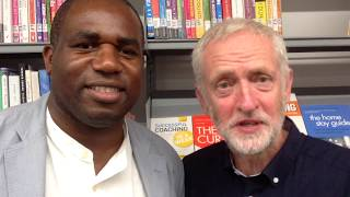 Tottenham MP David Lammy and Labour leader Jeremy Corbyn wish students luck in their exam results.