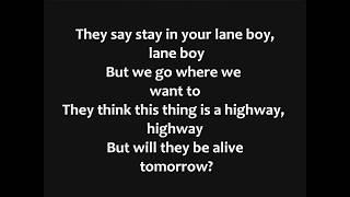 Twenty One Pilots - Lane Boy Lyrics