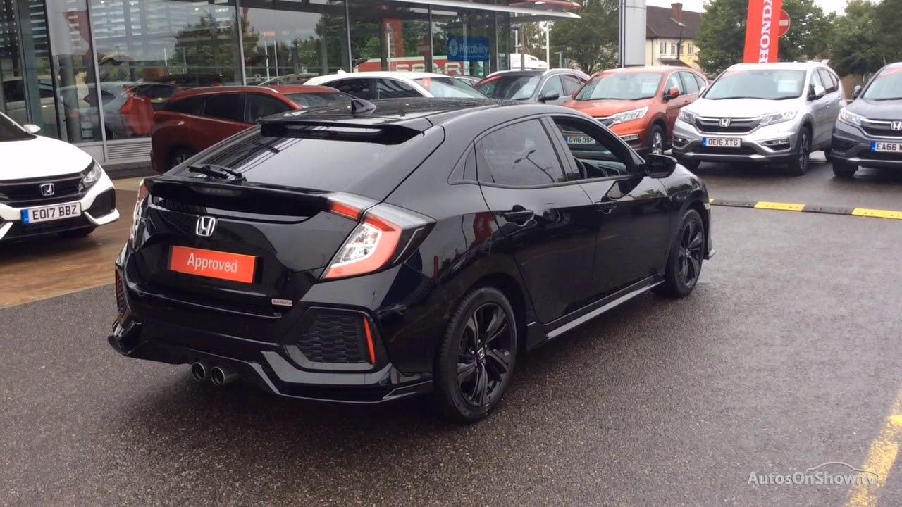 Honda Civic Vtec Sport Plus Black 2017 Youtube
