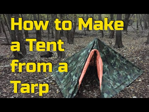 how-to-make-a-tent-with-a-tarp