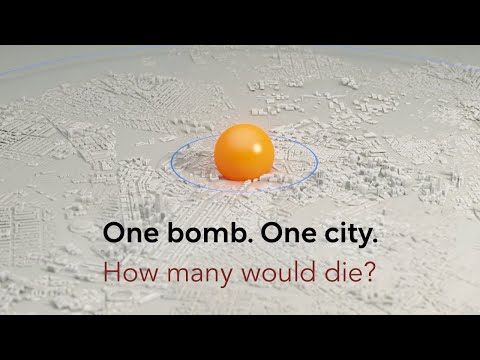 Simulation Of A Nuclear Blast In A Major City
