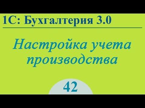 Бухгалтерия 3.0 - настройка производства