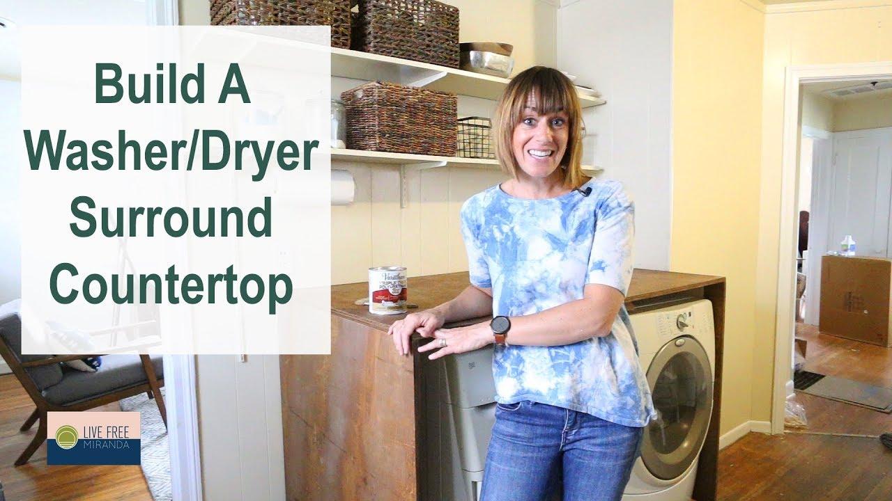 - DIY Washer Dryer Surround In Our Rental Kitchen - YouTube