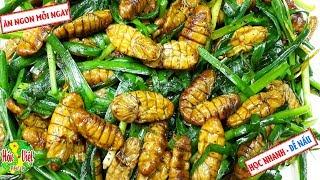 ✅ Nhộng Tằm Xào Hẹ Kiểu Này Thì Cực Tốn Cơm   Hồn Việt Food