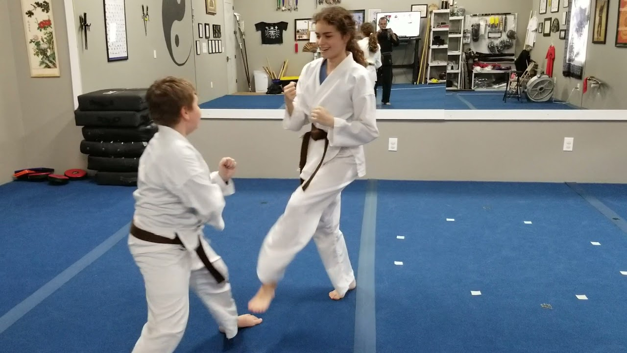 Kids Sparring and Striking
