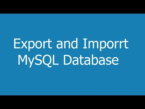 how to import and export mysql database using command line and phpmyadmin
