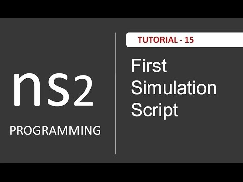 How to Write first simulation script in NS2 : NS2 Tutorials # 15