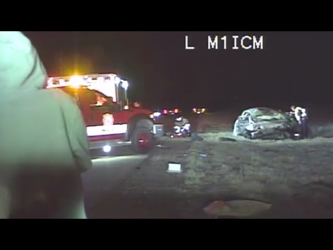 Video: Drunk driver at scene of deadly crash