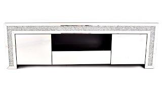 meuble tv miroir 150cm 2 portes 1 tiroir manihi
