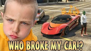 TROLLING KID WITH ENGINE KILL SWITCH! (GTA 5 Funny Trolling)