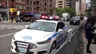 NYPD & United States Secret Service Escorting A Motorcade On 2nd Ave For The United Nations