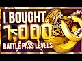 i bought 1000 battle pass levels luckiest opening ever