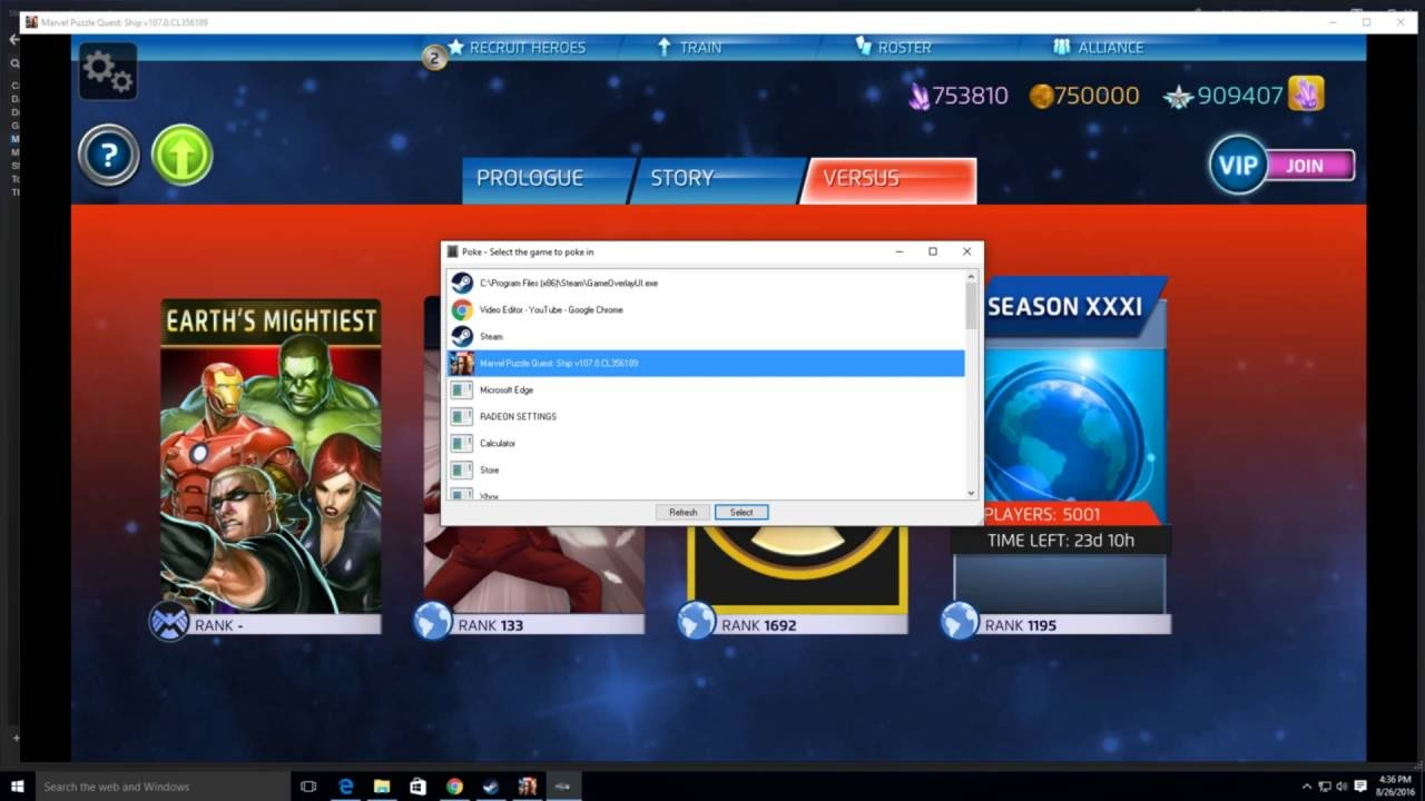 How to Hack in Marvel Puzzle Quest on Steam - YouTube