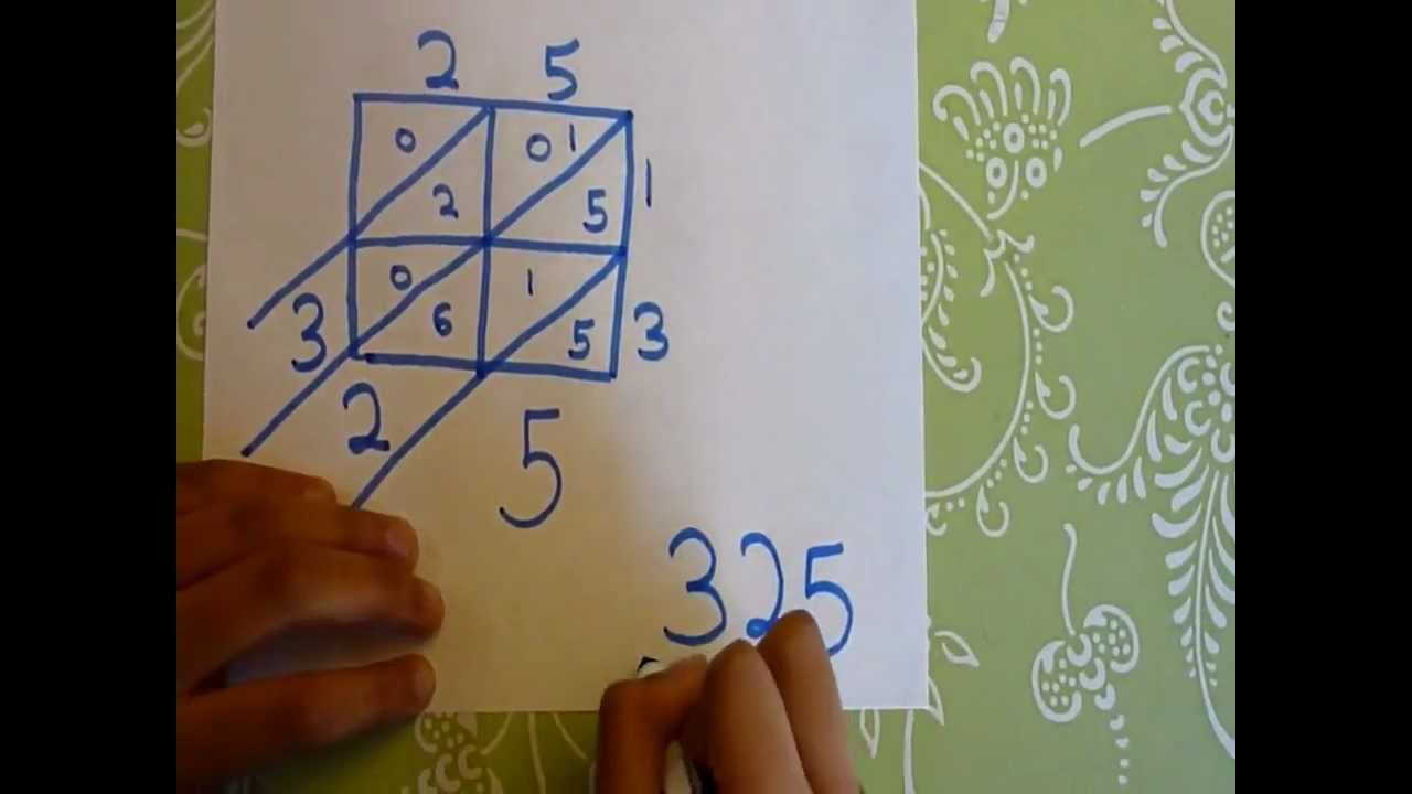 medium resolution of Lattice Multiplication - VERY EASY explaination - YouTube
