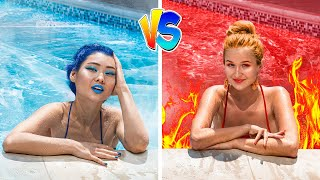 Hot vs Cold Challenge / Sibling Prank Wars!