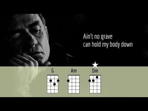 AIN'T NO GRAVE - JOHNNY CASH - UKULELE PLAY ALONG