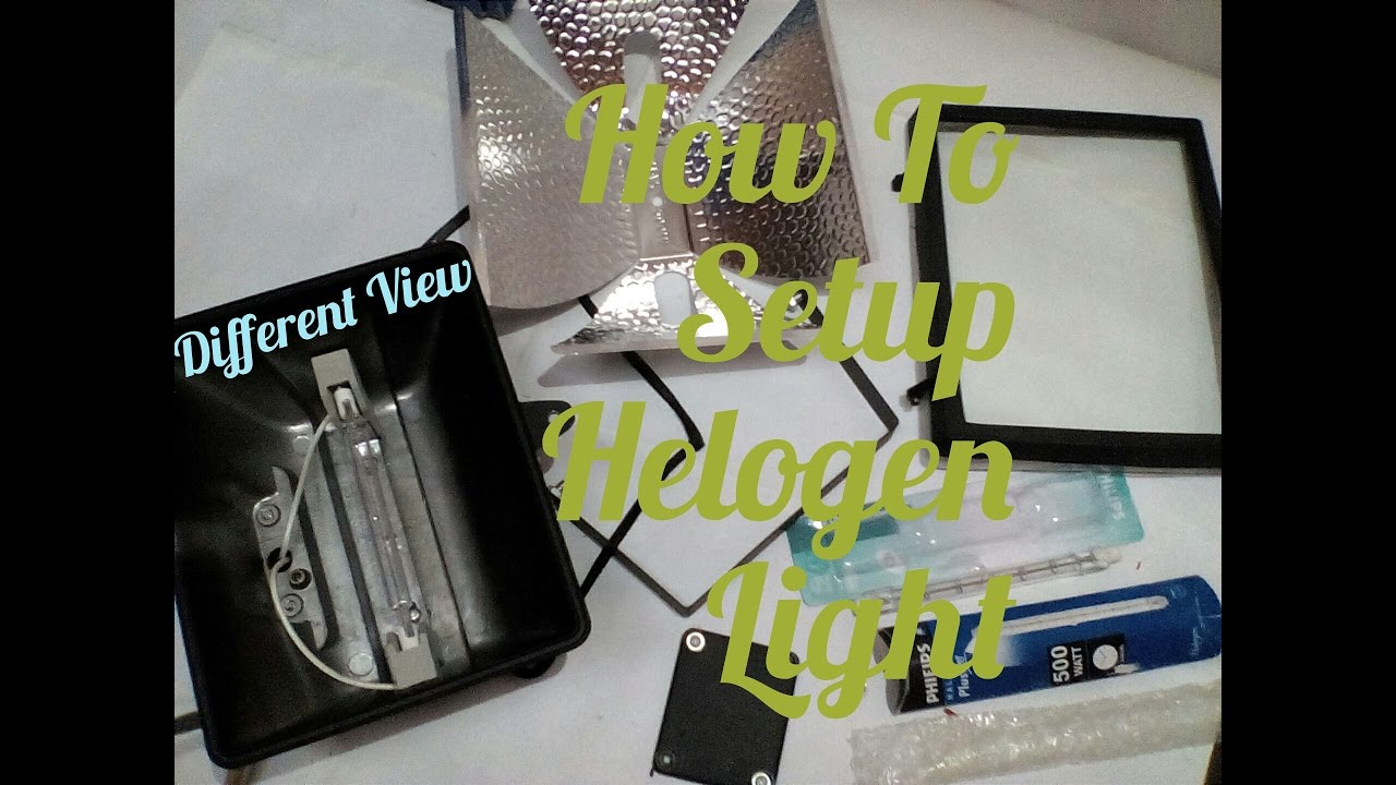 How To Setup Helogen Light Wire A Floodlight Halogen Wiring Lights For Youtube Video