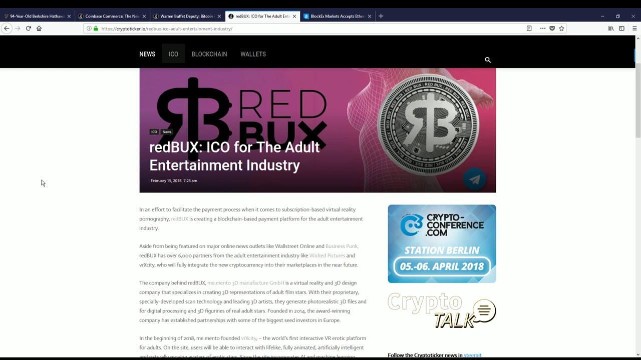 redBUX ICO - the cryptocurrency for adult entertainment virtual reality