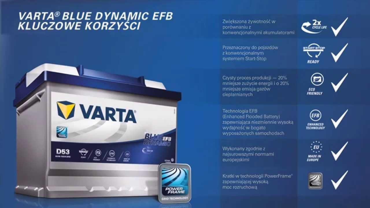 Akumulator Varta nowy blue dynamic EFB