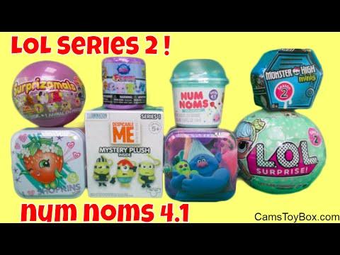 Toys Surprises Num Noms 4 Special Series 2 LOL Surprise Doll Surprizimals Trolls Shopkins Tins
