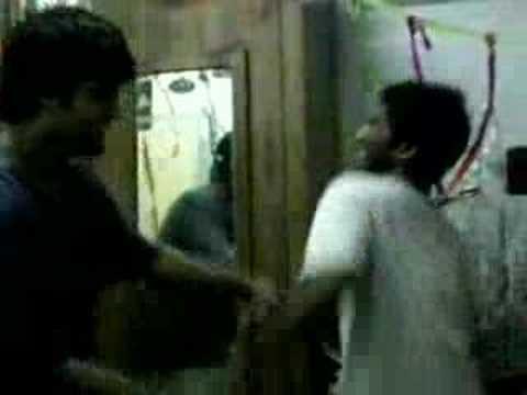 Steven and Raje dancing.