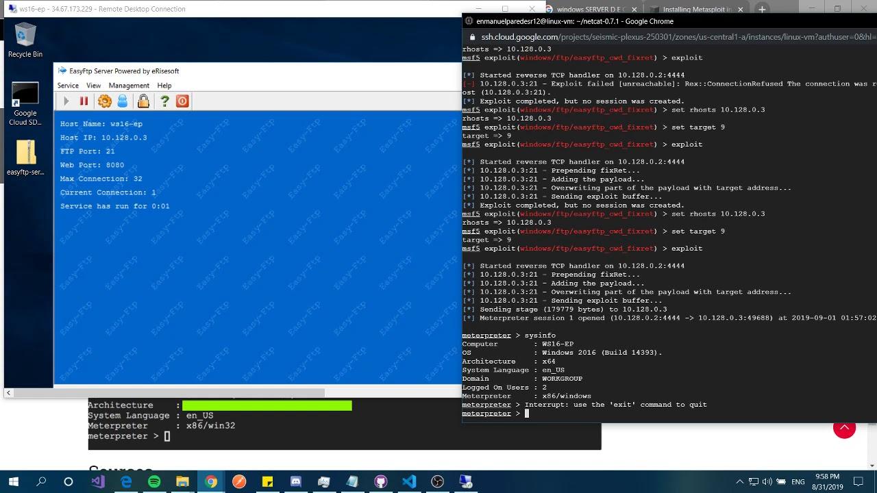 Metasploit vs EasyFTP parte 2