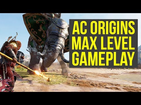 Assassin's Creed Origins Max Level Gameplay FIGHTING AN ELEPHANT (AC Origins Max Level Gameplay)