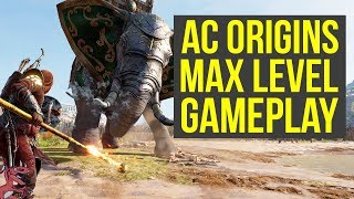 Assassin's Creed Origins Max Level Gameplay FIGHTING AN ELEPHANT (AC Origins Max Level Gameplay)