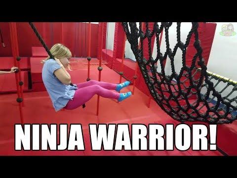 Ninja Warrior Course Indoor Trampoline Park! | Babyteeth More!