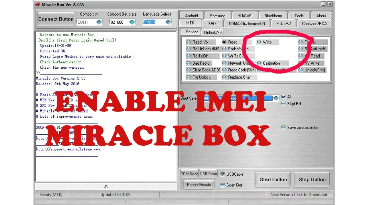 how to enable imei option miracle box