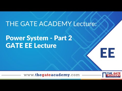GATE EE Lectures | Power System | GATE Exam | Part-2