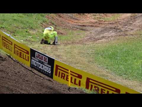 Cole Seely Crash at Tennessee  National 2017 (Muddy Creek)