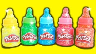 learn colors play doh baby bottles surprise toys dory paw patrol my little pony rainbowlearning