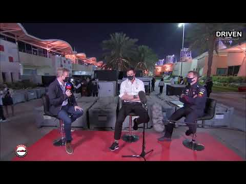 F1 2021 Bahrain GP   Post Race   Toto Wolff & Christian Horner
