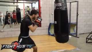 Jorge Linares vs. Ira Terry- Linares media workout highlights