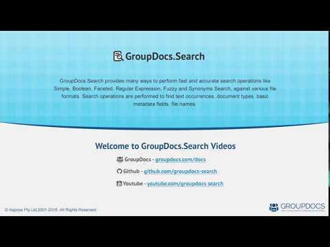 GroupDocs Search VS plugin