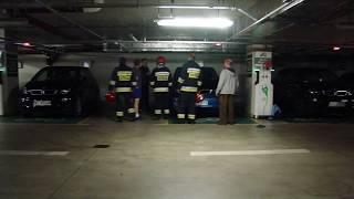 [Full HD] Alarm przeciwpożarowy w parkingu podziemnym przy Narodowym Forum Muzyki we Wrocławiu!