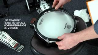 How to replace your V-Drums mesh heads with PowerPly